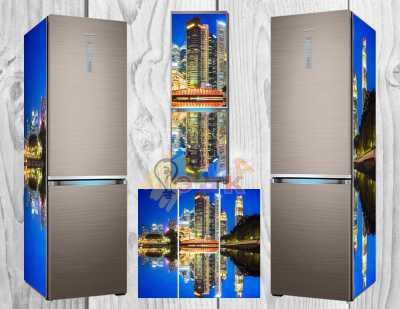 Фото: Дизайнерские наклейки на холодильник Нью йорк
