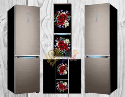 Фото: Дизайнерские наклейки на холодильник Гладь