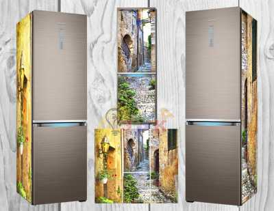 Фото: Дизайнерские наклейки на холодильник Улицы Монако