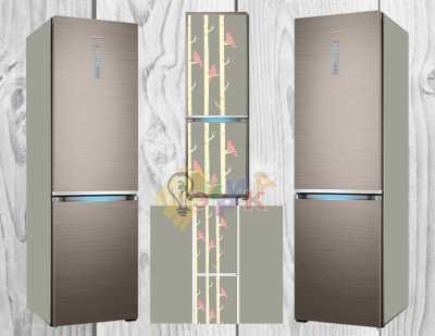 Фото: Дизайнерские наклейки на холодильник Креатив