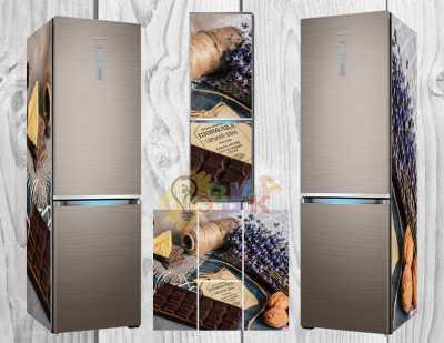Фото: Дизайнерские наклейки на холодильник Шоколадная коллекция