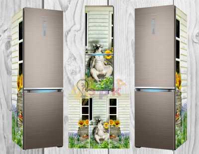Фото: Дизайнерские наклейки на холодильник Узбагойся