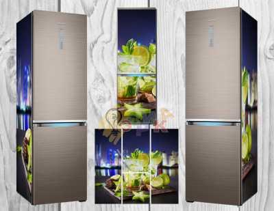 Фото: Дизайнерские наклейки на холодильник Карамболь