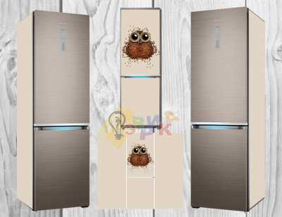 Фото: Дизайнерские наклейки на холодильник Кофеман