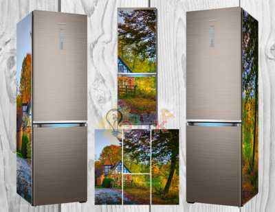 Фото: Дизайнерские наклейки на холодильник Релакс
