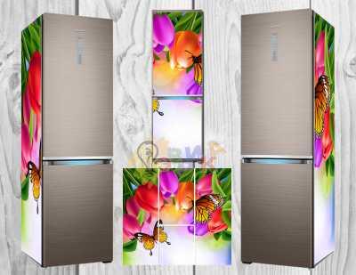 Фото: Дизайнерские наклейки на холодильник Бабочка