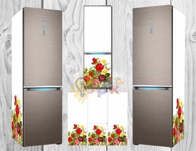 Фото: Дизайнерские наклейки на холодильник Премиум Шик