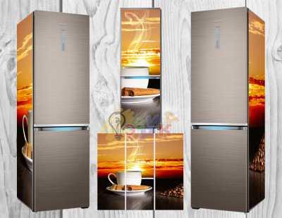 Фото: Дизайнерские наклейки на холодильник Бодрость