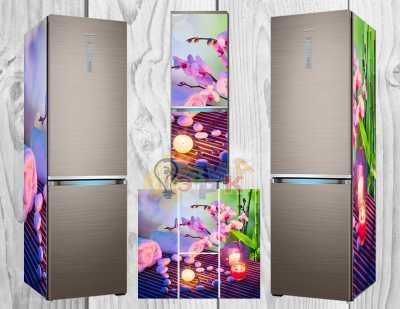 Фото: Дизайнерские наклейки на холодильник Арома