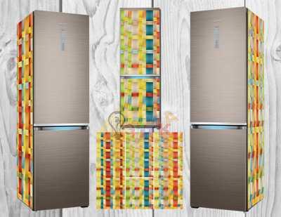 Фото: Дизайнерские наклейки на холодильник Абстракция