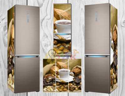 Фото: Дизайнерские наклейки на холодильник Кофейная чашка