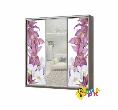 Фото: Дизайнерские наклейки на шкаф купе Орхидеи