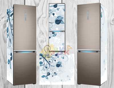 Фото: Дизайнерские наклейки на холодильник Завитки