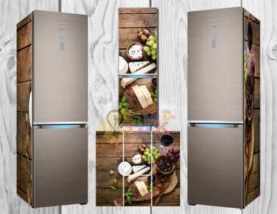 Фото: Дизайнерские наклейки на холодильник Сыры