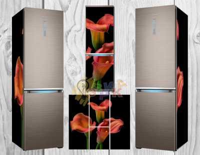 Фото: Дизайнерские наклейки на холодильник Лилия