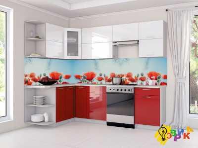 Фото: Фартук для кухни из пластика Маки