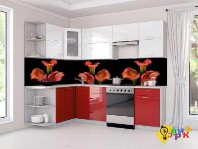 Фото: Фартук для кухни из пластика Лилии
