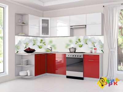 Фото: Фартук для кухни из пластика Орхидеи дизайнерские
