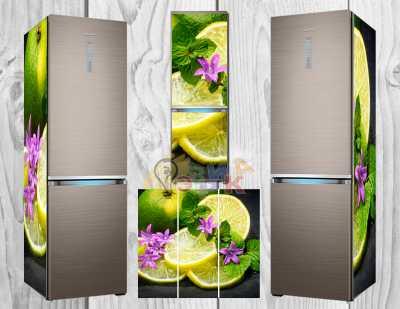 Фото: Дизайнерские наклейки на холодильник Лайм