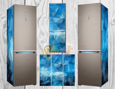 Фото: Дизайнерские наклейки на холодильник 3Д абстракция