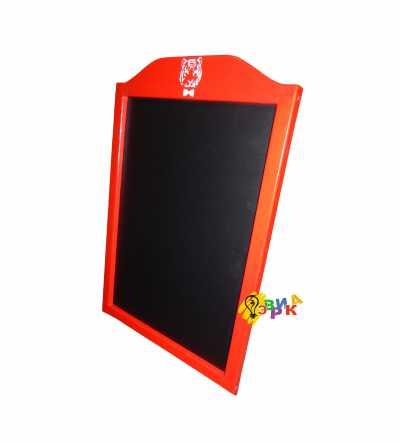 Фото: Меловая доска красная арочная А1 формата
