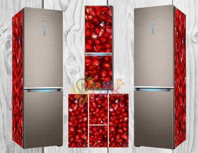 Фото: Дизайнерские наклейки на холодильник Гранат