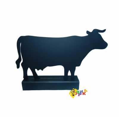 Фото: Досточка меловая на деревянной подставке Корова