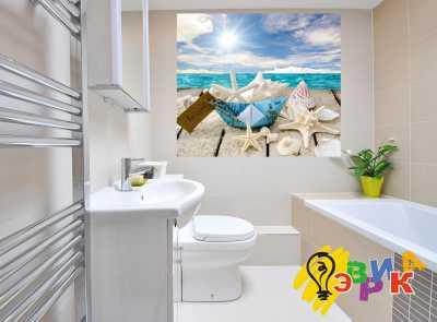 Фото: Виниловые наклейки в ванную премиум Морская звезда