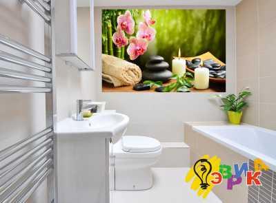 Фото: Виниловые наклейки в ванную премиум Спа