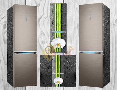 Фото: Виниловая наклейка на холодильник Орхидея спа