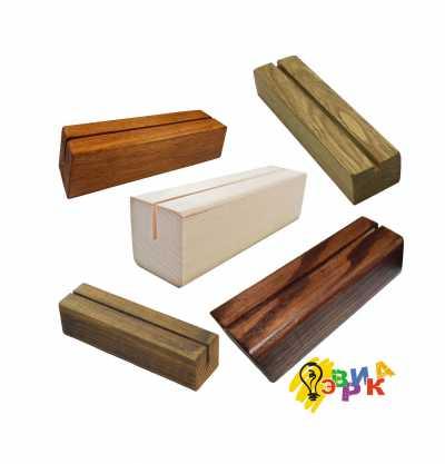 Фото: Деревянные подставки для менюхолдеров