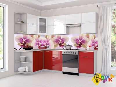 Фото: Фартук для кухни из пластика Орхидея