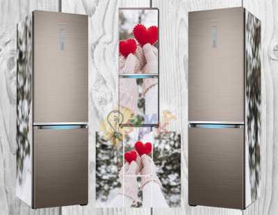 Фото: Виниловая наклейка на холодильник Любовь