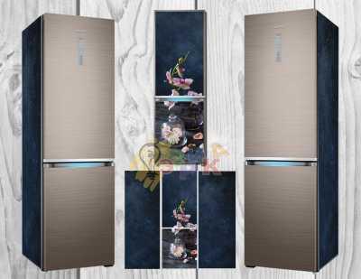 Фото: Виниловая наклейка на холодильник Нежность