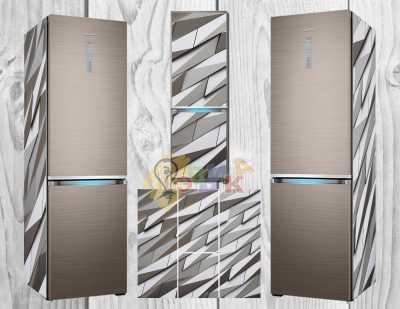 Виниловая наклейка на холодильник Хайтек