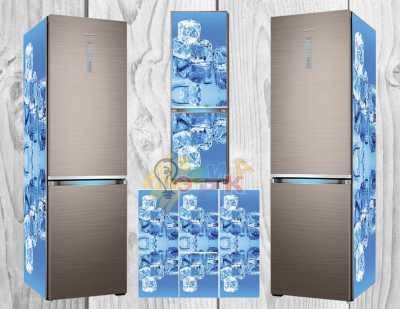 Фото: Виниловая наклейка на холодильник Лёд