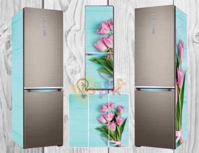 Фото: Виниловая наклейка на холодильник Гламур