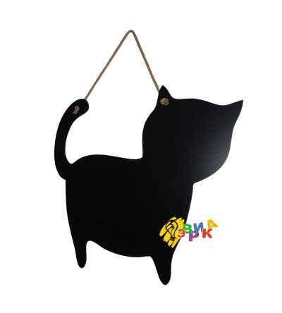 Фото: Меловая доска Котик на веревке