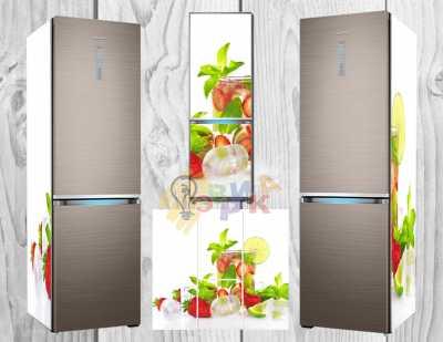 Фото: Виниловая наклейка на холодильник Лимонад