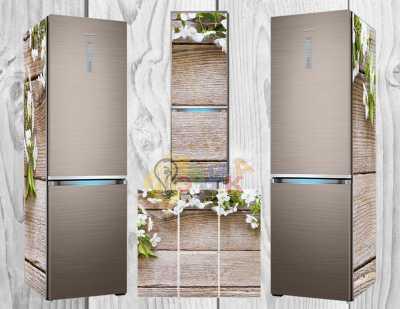 Фото: Виниловая наклейка на холодильник Цвет яблони