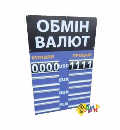 Курсар обмен валют на 4 валюты синий