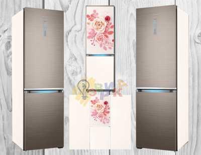 Фото: Виниловая наклейка на холодильник Роза 3Д