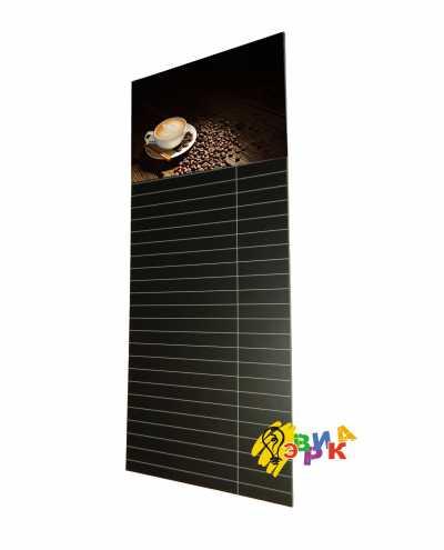 Фото: Меловое панно с линиями Кофе