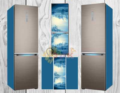 Фото: Виниловая наклейка на холодильник Изморозь