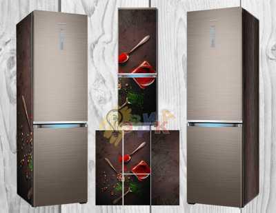 Фото: Виниловая наклейка на холодильник Пряности