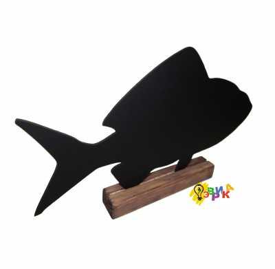 Фото: Меловая рыбка на подставке