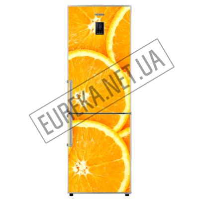 Фото: Виниловые наклейки на двухкамерные холодильники Апельсины