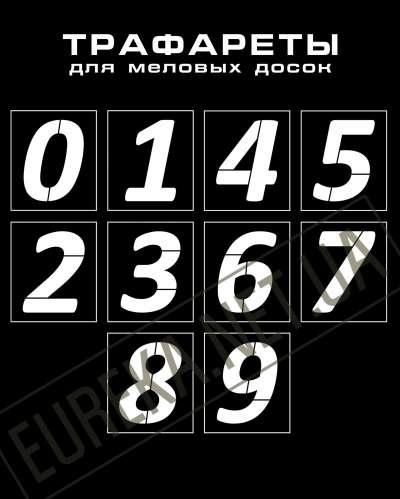 Фото: Трафарет цифр для меловых досок